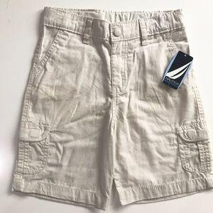 NWT Boys Nautica Khaki Shorts Size 4T
